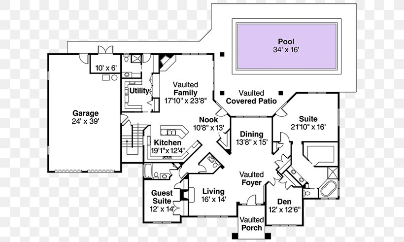Floor Plan House Plan Png 650x491px Floor Plan Architectural Plan Architecture Area Black And White Download