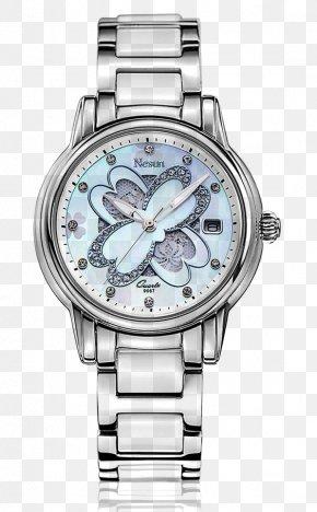 Nigeria Still White Clover Ceramic Table - Watch Strap Watch Strap Quartz Clock PNG