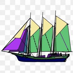 Tall Ship Sailboat - Boat Schooner Vehicle Sail Sailing Ship PNG