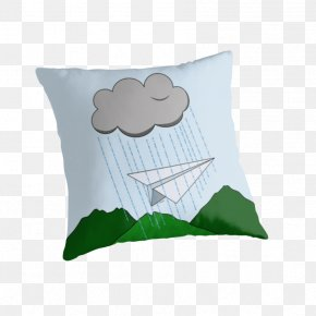 Throwing Paperrplanes - Throw Pillows Cushion Textile Green PNG
