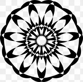 Flower - Floral Design Monochrome Flower Clip Art PNG