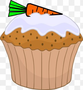 Cupcake Cliparts Transparent - English Muffin Cupcake Carrot Cake Birthday Cake PNG