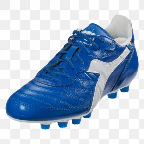 Royal/White Football Boot Shoe AdidasRoyal Style - Diadora BRASIL ITALY LT MD PU Soccer Cleat PNG