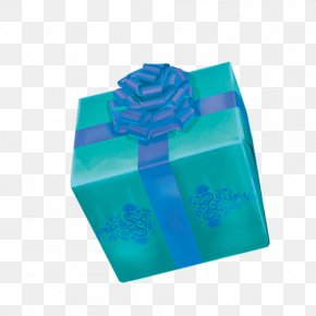 Gift - Gift Blue Box PNG