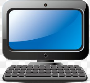 Computer Vector Material - Netbook Computer Keyboard Computer Hardware Computer Monitors Output Device PNG