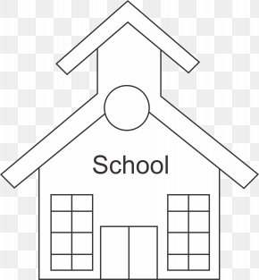 School Outline - School Black And White Coloring Book Clip Art PNG