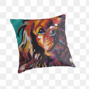 Pillow - Cavalier King Charles Spaniel Dog Breed Throw Pillows PNG