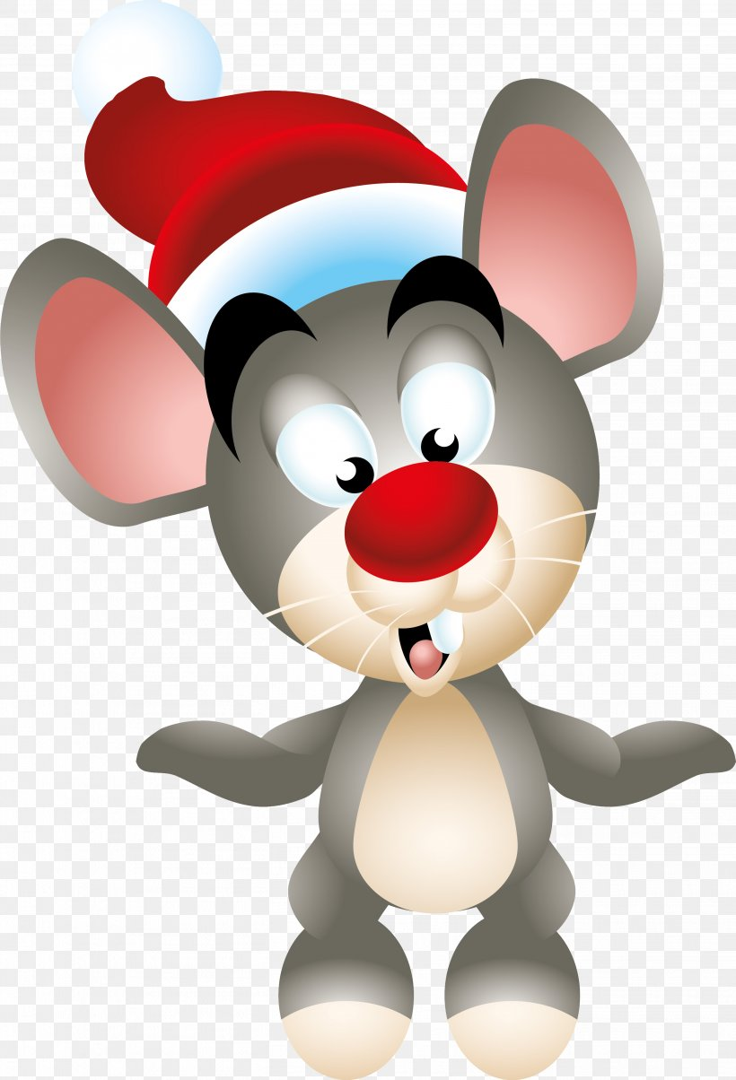 Computer Mouse Christmas Ded Moroz New Year Clip Art, PNG, 2824x4147px, Computer Mouse, Cartoon, Christmas, Christmas Ornament, Christmas Tree Download Free