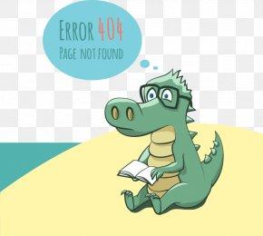 Small Alligator Web Design Vector Material Damage - HTTP 404 Error Message Clip Art PNG
