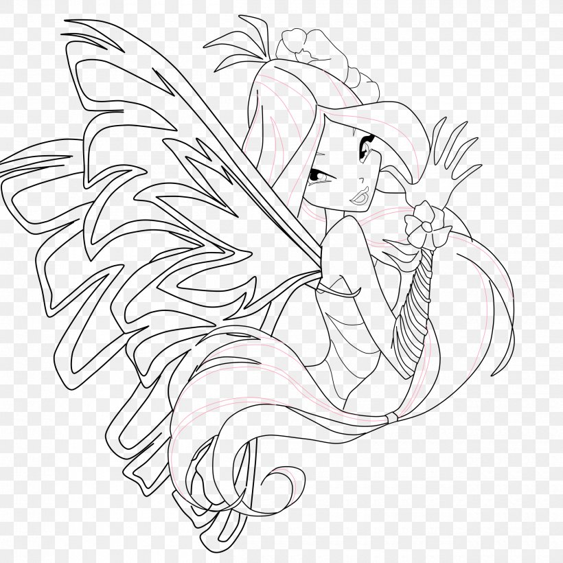 Winx Club Bloom Harmonix Coloring Pages - Winx Club Flora Sirenix ... | 820x820
