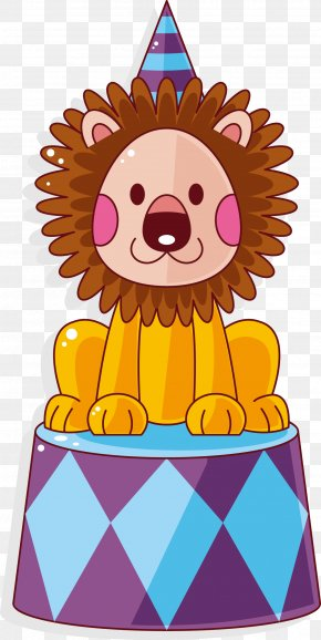 Circus Lion Vector - Hair Tie Comb Ring Afro-textured Hair PNG
