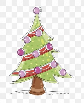 Cartoon Green Christmas Tree Decoration - Christmas Tree Christmas Ornament Christmas Decoration PNG