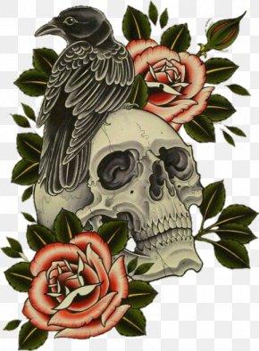 Flash - Tattoo Flash Human Skull Symbolism Calavera PNG