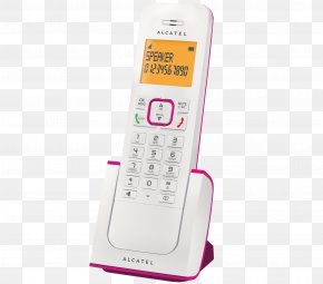 Iphone - Feature Phone Alcatel Mobile Cordless Telephone Caller ID PNG