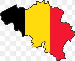 Map - Flag Of Belgium Map National Flag PNG