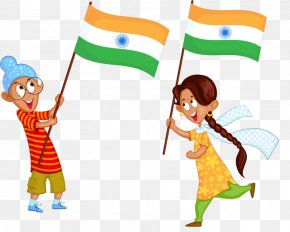 Indian Children - Indian Independence Movement Flag Of India PNG