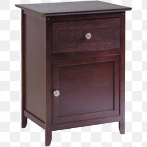 Retro Furniture Wood Cabinet - Nightstand Table Drawer Wood Cabinetry PNG