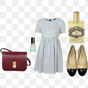 Black And White Striped Dress Was Thin - Dress Black And White PNG