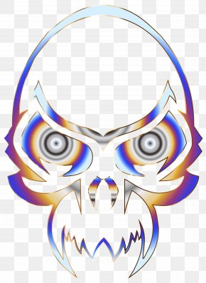 Skull - Skull Calavera Bone Color Clip Art PNG