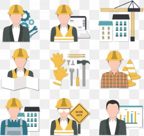 Construction Workers Vector Icons - Architectural Engineering Construction Worker Icon PNG