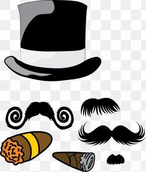 Hat - Hat Moustache Beard PNG
