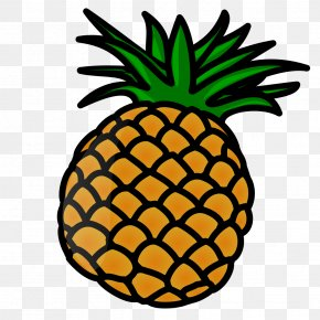 Cartoon Pineapple Clip Art - Pineapple Fruit Luau Clip Art PNG