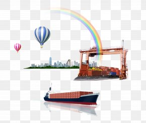 Flowers Express Container Port Shipping - Transport Intermodal Container Logistics Service PNG