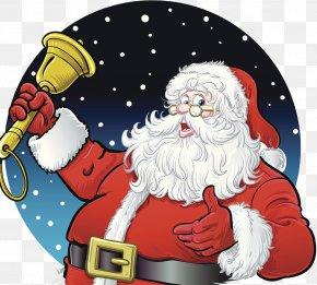 Santa Bells - Santa Claus Christmas Illustration PNG