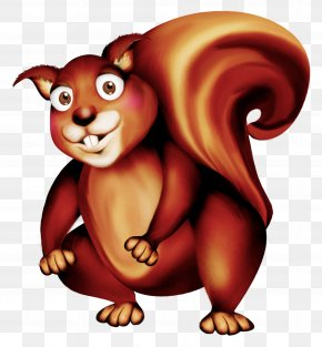 Cute Squirrel - Squirrel Bear Clip Art PNG
