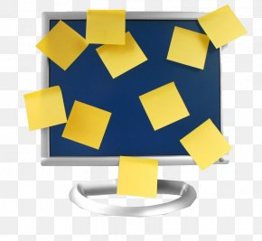 Plastered Convenience Of The Computer Monitor - Post-it Note Laptop Computer Monitor PNG