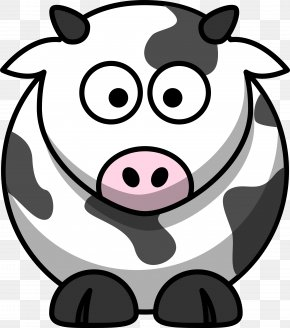 Cow Shape Cliparts - Cattle Cartoon Drawing Clip Art PNG