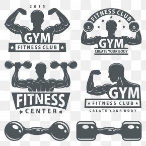 Fitness Dumbbell - Bodybuilding Dumbbell Logo PNG