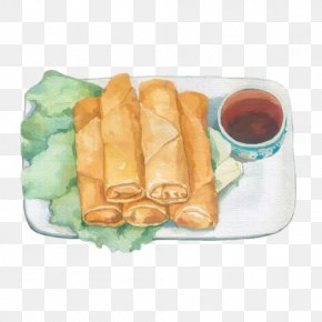 Spring Rolls, Hand Painting Material Picture - Spring Roll Breakfast Food PNG