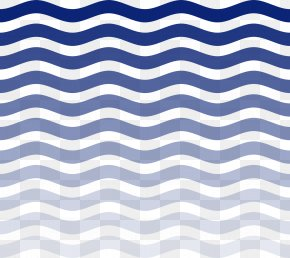 Blue Water Waves - Wind Wave Euclidean Vector Pattern PNG