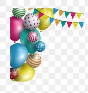 Vector Christmas New Year Holiday Balloon Bunting - Balloon Party Birthday Holiday PNG