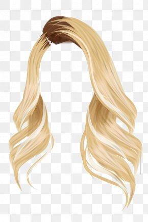Hair Blonde - Stardoll Wig Brown Hair Blond PNG