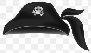 Black Pirate Hat Clipart - Hat Piracy Tricorne Clip Art PNG