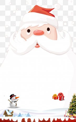 Christmas Santa Claus Background. - Santa Claus Christmas Ornament Poster PNG