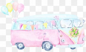 Family Car Van - Pink Vehicle Transport Car Van PNG