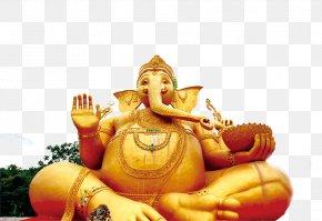 Golden Elephant Buddha - Golden Buddha Tourism In Thailand Statue PNG
