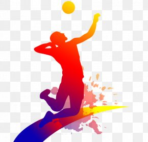 People Playing Volleyball - Volleyball Clip Art PNG