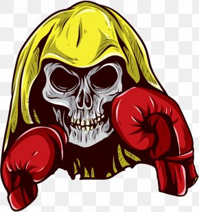Boxing Skull Pictures - Boxing Glove Skull Illustration PNG