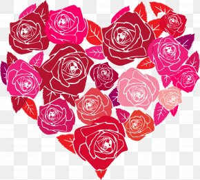 HEART FLOWER - Rose Heart Love Valentine's Day PNG