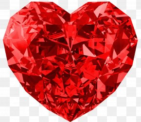 Heart Image, Free Download - Red Diamonds Heart Carat PNG