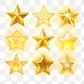 Vector Glowing Star - Euclidean Vector Star Icon PNG