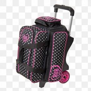 Pink Bowling Ball Bag - 2 Ball Roller Bowling Bag Hand Luggage PNG