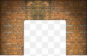 Brick Wall - Floor Wall Brown Pattern PNG