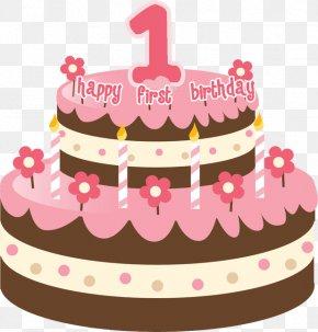 1st Birthday - Birthday Cake Happy Birthday To You Animated Cartoon Clip Art PNG