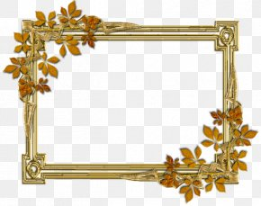 Autumn Border - Picture Frame Text Brass Pattern PNG
