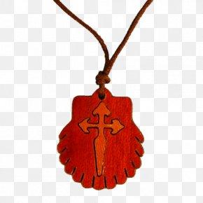 Necklace - Camino De Santiago Jewellery Chain Necklace Scallop Locket PNG